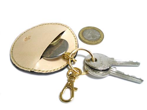 小銭入れのポケット付きキーホルダー