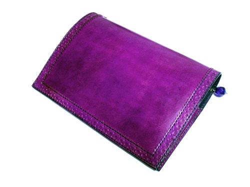 クラシックブックカバー(紫)