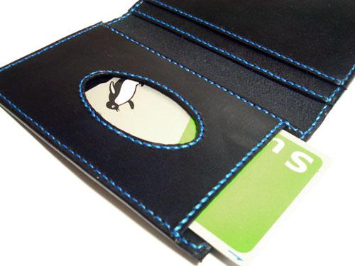 ブルーステッチのシンプルカードケース2