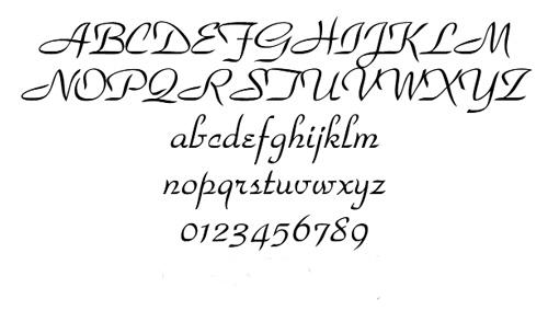名入れ刻印の書体