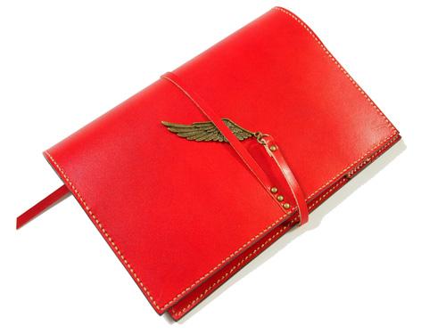 デザインMIX赤の手帳カバー