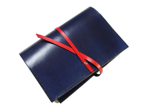 紐留めタイプの本革A6(文庫、ほぼ日サイズ)手帳カバー